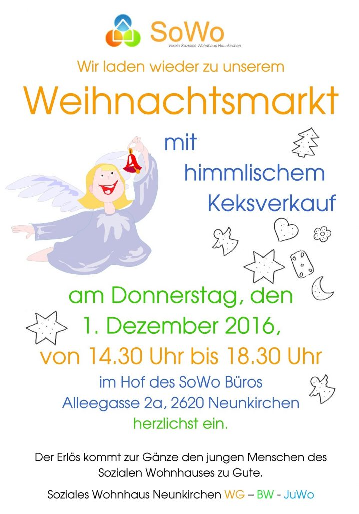 Einladung Zum Weihnachtsmarkt Sowo At Verein Soziales